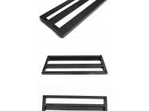 go4-boards Pedalboard DPB2, 460 x 200 x 20 mm, Aluminium, black, inkl. Gigbag