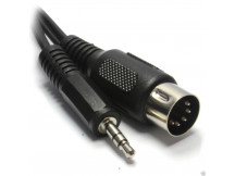 RS Adapter Mini-Klinke, stereo (3,5mm) auf DIN-Stecker 5-polig, mit 2 meter Kabel