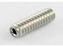 Allparts GS0002-005 Bridge Height Screws 9,5mm lang, inch Gewinde (Preis pro Stück) stainless steel, Madenschraube, Inbus
