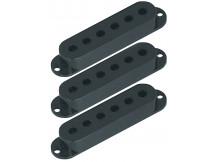 RS Guitar Parts (Fire&Stone) 3x Tonabnehmer Kappen, schwarz, Pickup Cover für ST Modelle