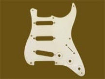 Hosco MRCST57W1P MasterRelic Pickguard für Strat, White 1-ply, made in Japan