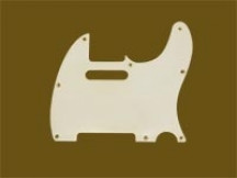 Hosco MRCTL60W1 MasterRelic Pickguard für Tele, White 1-ply, made in Japan