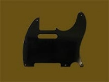 Hosco MRCTLBL MasterRelic Pickguard für Tele, Bakelit Black 1-ply, made in Japan