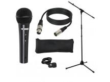 LD-Systems Mic Set 1, Gesangsmikrofon dynamisch mit Stativ, Kabel und Mikrofon-Halterung