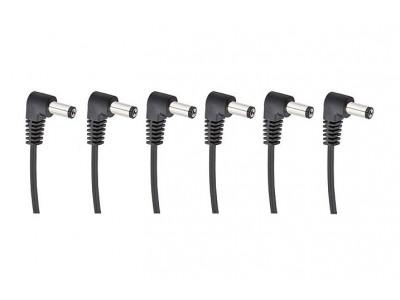 Cherry Music S6 Daisychain Kabel, Niedervolt Stromverteilerkabel für 6 Effektgeräte mit Winkelstecker