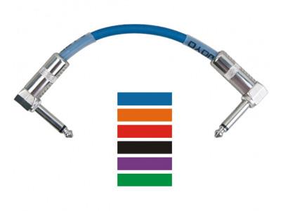 Joyo CM11 Patchkabel Set, 6 Kabel á 20cm, schwarz, blau, rot, grün, gelb, violett