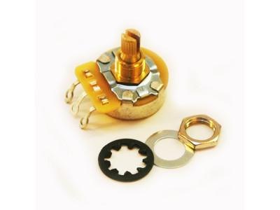 CTS-A250S, Potentiometer (Poti), 250K-Ohm logarithmisch, kurze Achse, für 10mm Bohrung