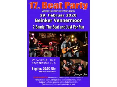 Eintrittskarte Beat-Party - Live-Musik der 60er und 70er Jahre!