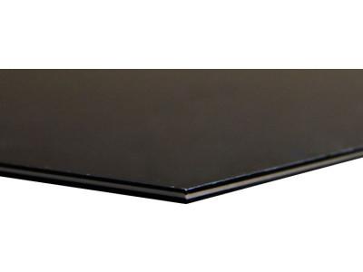 Hosco Pickguard Rohmaterial PG-B3 Black 3-ply B-W-B, 227 x 390 mm, made in Japan