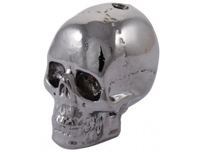 Qparts Potiknopf Jumbo Skull 2, black chrome, face up, Sonderpreis/Restposten!