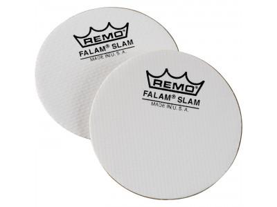 "Remo Falam Slam 2 Stck 4"" für Single Bass Drum, Kevlar weiß"