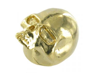 Qparts Potiknopf Skull 2, gold, face up