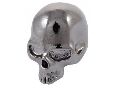 Qparts Potiknopf Skull 2, black chrome, face up