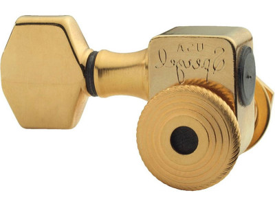 Sperzel Trim-Lock TL-SGD, 6R Lefthand Mechaniken, satin gold