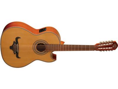 Oscar Schmidt OH42SE-NT Bajo Quinto Latin Guitar, natural, inkl. Gigbag