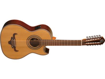 Oscar Schmidt OH52SENT Bajo Sexto Latin Guitar, natural, inkl. Gigbag