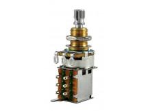 Allparts EP0296-000 Push/Push Poti, 500K, logarithmisch, Riffelachse
