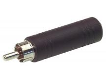 Alpha Audio 6,3mm Klinkenbuchse Mono => Chinch-Stecker Adapter