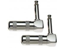 2 Stück Stagg 003H (B003H), Winkel - Klinkenstecker, mono, 6,3mm - (Packung mit 2 Stck)