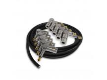 Bullet Cable BCSLA Kit Slug DIY Kit, Kabel zum selbermachen, 10x Winkelstecker und 3 mtr. Kabel, lötfrei, steckbar
