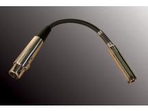 Career Adapter XLR-F auf Klinkenbuchse mono, mit kurzem Kabel