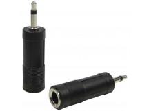Career Adapter 6,3mm Klinkenbuchse auf 3,5mm Miniklinke, jeweils mono