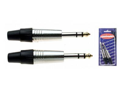 2 Stück Stagg B020STH, Klinkenstecker, stereo, 6,3mm  (Packung mit 2 Stück)