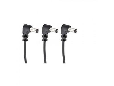 Cherry Music S3 Daisychain Kabel, Niedervolt Stromverteilerkabel für 3 Effektgeräte mit Winkelstecker