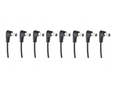 Cherry Music S8 Daisychain Kabel, Niedervolt Stromverteilerkabel für 8 Effektgeräte mit Winkelstecker