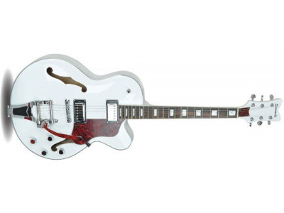 RS Guitars ES72, Vollresonanz, White, Bigsby® Style Tremolo,