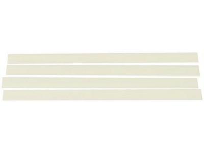 Basix (BSX) Plastikstreifen für Snareteppich Befestigung (4Stck)