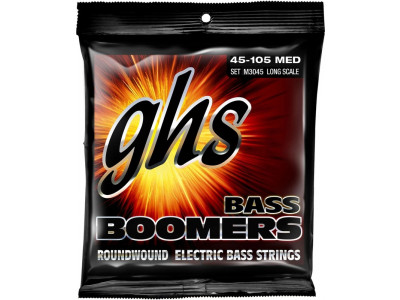 GHS Boomers M3045 Medium, 045-105 Saiten für E-Bass, made in USA!