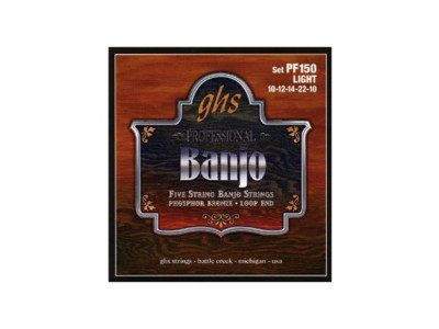 GHS PF150 Light, Saiten für 5-string Banjo, 010-012-014-022-010