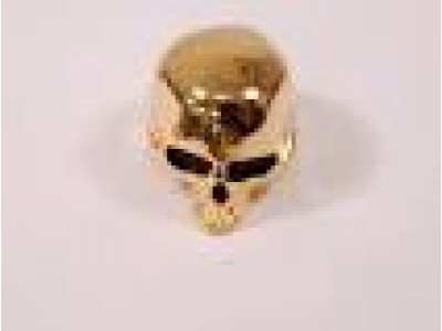 Qparts Potiknopf Skull 1, gold, face straight