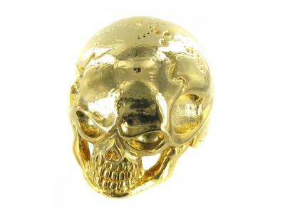 Qparts Potiknopf Jumbo Skull 1, gold, face straight