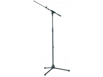 König & Meyer K&M 21080 Mikrofonständer mit ausziehbarem Galgen, schwarz, Topline