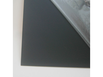 Hosco Pickguard Rohmaterial PG-B1 Black 1-ply, 227 x 390 mm, made in Japan
