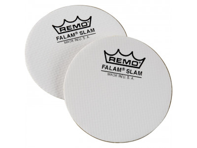 "Remo Falam Slam 2 Stck 4"" für Single Bass Drum, Kevlar weiß"