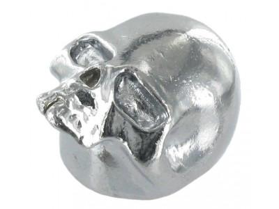 Qparts Potiknopf Skull 2, chrome, face up