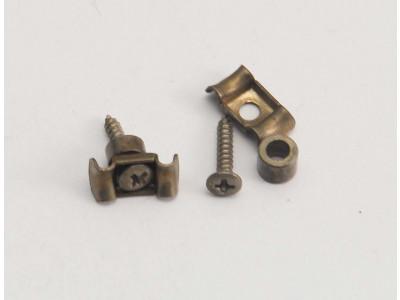 Qparts AG1158660/AG1170260 SSGSLNI Aged Collections Saitenniederhalter Set (Stringtree), 59er Butterfly, 1x hoch und 1x niedrig