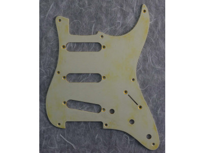 Qparts AG1159844 GOLD8HL Aged Collections 57er Pickguard, Aluminium gold anodized für ST Modelle