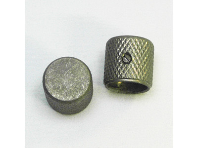 Qparts AG6164360 Aged Collections 59er Dome Flat Knobs, 2 Stck Potiknopf, Metall, für P-Bass Modelle