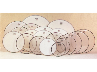 "Remo Ambassador 20"" clear, Bass-Drum Fell"