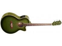 Oscar Schmidt OG10CEFTGR Flame Transparent Green