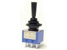 Allparts EP0080-003 Mini-Schalter, On-On-On, schwarz