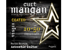 curt mangan 10-50 80/20 Bronze Extra Light COATED Acoustic Guitar