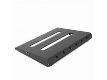 Caline CB106 Pedalboard 350x280x45/15, Aluminium black, inkl. Gigbag