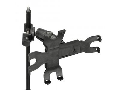 Adam Hall SMS14 Pro iPad Halter, Universal zur Montage an einem Stativ, Kunststoff schwarz