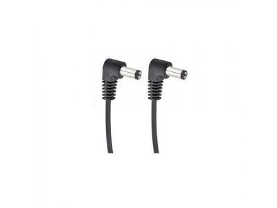 Cherry Music S2 Daisychain Kabel, Niedervolt Stromverteilerkabel für 2 Effektgeräte mit Winkelstecker