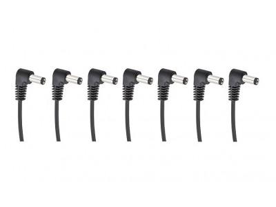 Cherry Music S7 Daisychain Kabel, Niedervolt Stromverteilerkabel für 7 Effektgeräte mit Winkelstecker